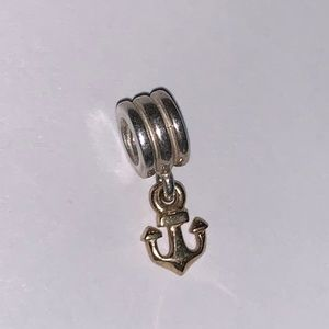Pandora Retired Two Tone Anchor charm